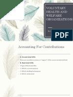 Voluntary Health and Welfare Organizations