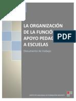 La Organizacion de La Funcion Apoyo Pedagogico a Escuelas