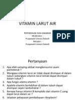 Pertanyaan Vitamin Larut Air