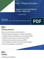 Lecture 3. Vapour Liquid Equilibrium and Flash Separator