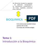 Tema #1 Introduccion a La Bioquimica