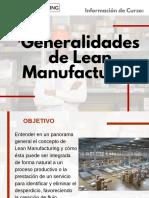 Curso Generalidades de Lean Manufacturing