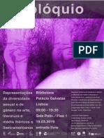 """Colóquio """"Representações da diversidade sexual e de género na arte, literatura e media ibéricos e ibero-americanos"""" - Livro de Resumos"""