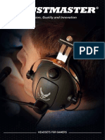 Thrustmaster 2019 Catalogue dedicated to gaming Headsets