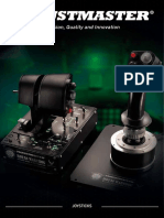 Thrustmaster 2019 catalog dedicated to Joysticks and flighsim controllers