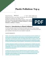 Essay on Plastic Pollution