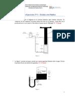 Guía de ejercicios 1- Estática de Fluidos