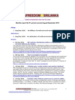 Media Freedom Sri Lank A Monthly Report No 08-09 Aug-Sep 2010