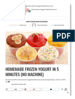 Homemade Frozen Yogurt Recipe (No Machine)