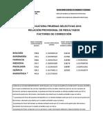 Factores Correccion Prov. Res.