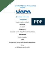 Tarea 1 Educacion Para La Paz y Formacion Ciudadana.