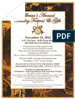 2010 Holiday Festival Poster