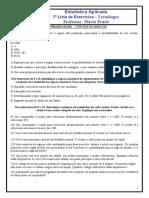 7ª Lista de Exercícios Estatística - 3.1 (1)