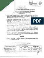 Acuerdo No. 43 - Calendario Académico 2019[1370]