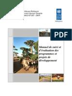 Manuel de suivi et d'évaluation des programmes et projets de développement