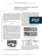 Design and Development of a Prototype Vehicle for Shell Eco Marathon