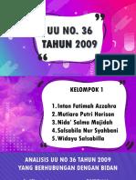 UU NO 36 TH 2009
