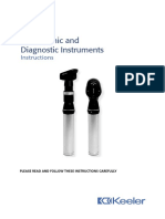 Keeler Ophthalmic Instruments - Instructions