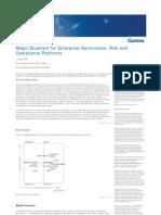 Magic Quadrant for Enterprise Governance Risk and Compliance Platforms