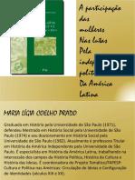 A Participação das Mulheres nas lutas pela independência da América Latina