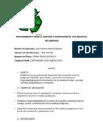 PROCEDIMIENTO PARA LA GESTIÓN Y DISPOSICIÓN DE LOS RESIDUOS.docx