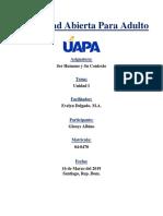 Universidad Abierta Para Adulto - Ser Humano y Su Contexto - Unidad I.docx