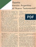 Que Dice España de La Version Argentina Del Nuevo Testamento