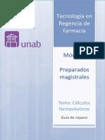 Cartilla Cálculos Farmacéuticos, Preparados Magistrales.(1)