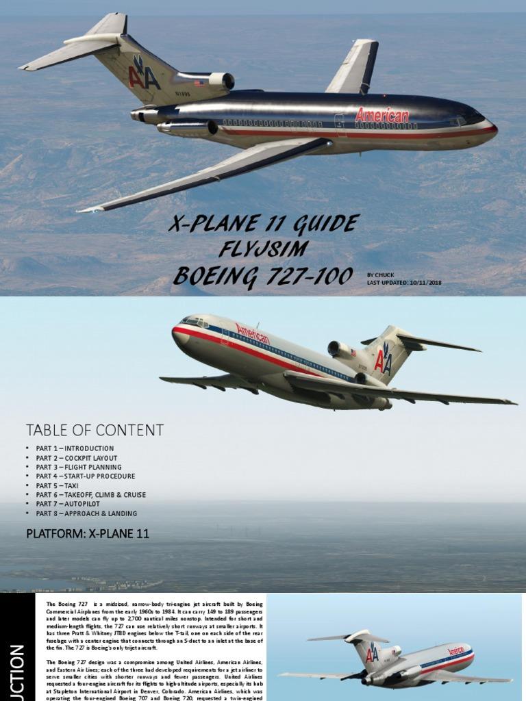 XP11-FlyJSim-727-100-Guide pdf | Aerospace | Aerospace Engineering