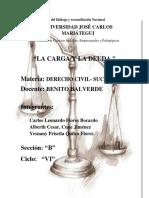 Derecho de Sucesiones La Carga y La Deuda 2da Unidad