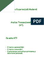 Curs 4 Analiza Tranzactionala