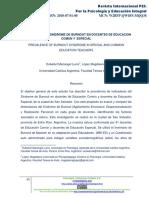 PREVALENCIA DEL SINDROME DE BURNOUT EN DOCENTES DE EDUCACION COMUN Y ESPECIAL.pdf