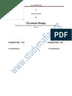 Civil Pavement Design Report