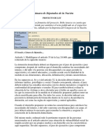 Proyecto de Ley Arresto Domiciliario