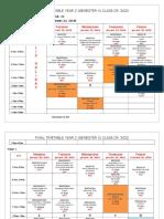 TIMETABLE YEAR 2 Class 2021(Semester II 2018-19) January 18 2019 Final