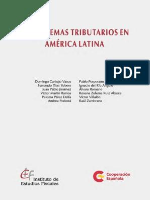 2017 Sistemastributariosal Pdf Impuestos Finanzas Del