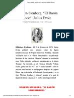 "Ungern-Stenberg, ""El Barón Loco"". Julius Evola | Biblioteca Evoliana"