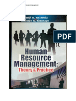 Human Resource Management - Theory & Practice