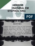 O horror sobrenatural em Stephen King