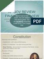 AP Gov Review Final Exam Review Final