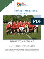 Tirage des 8e de finale de la coupe de Bourgogne-Franche-Comté Féminine