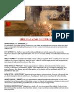 Firewalking Guidelines