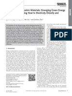 Organic Thermo-electric Materials