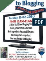 Blogging Flyer