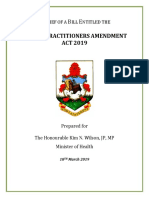 190318 Dental Practitioners Amendment Bill 2019 Second Reading Brief