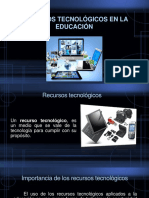 RECURSOS TECNOLÓGICOS EN EDUCACIÓN