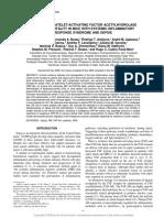 PAF- acetylhidrolase e sepse