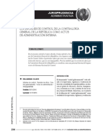LOS INFORMES DE CONTROL DE LA CONTRALORÍA GENERAL DE LA REPÚBLICA COMO ACTOS DE ADMINISTRACIÓN INTERNA