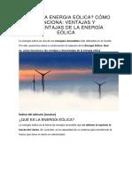 Qué Es La Energia Eólica