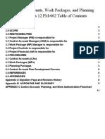 Procedure Control Accounts